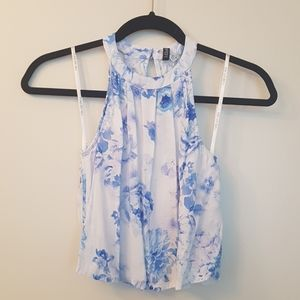Spring flower flowy tank top